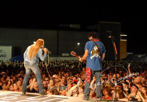 Live concert photography of Jackyl at Aces & Eights Harley Davidson in Mason, OH by Wayne Dennon © Dennon Photography