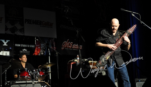 Live concert photography of Steve Adelson at NAMM Show 2008 in Anaheim, CA by Wayne Dennon © Dennon Photography