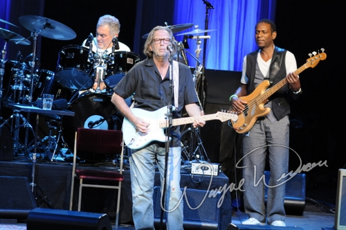Live concert photography of Eric Clapton at Riverbend Music Center in Cincinnati, OH by Wayne Dennon © Dennon Photography