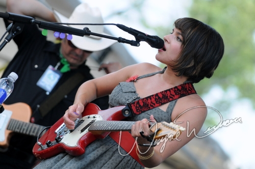 Live concert photography of Norah Jones at Bonnaroo in Manchester, TN by Wayne Dennon © Dennon Photography