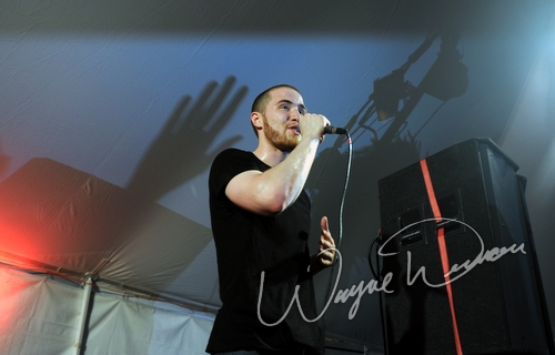 Live concert photography of Mike Posner at Bonnaroo in Manchester, TN by Wayne Dennon © Dennon Photography
