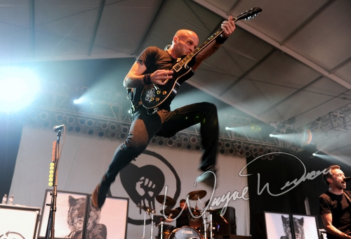 Live concert photography of Rise Against at Bonnaroo in Manchester, TN by Wayne Dennon © Dennon Photography