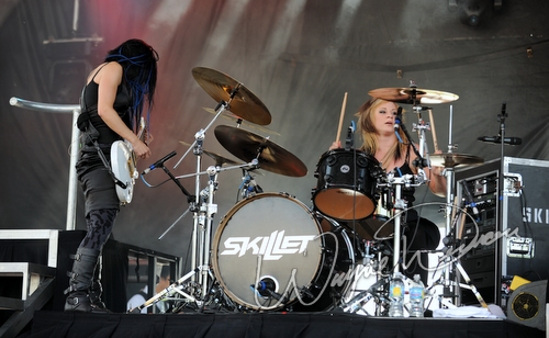 Live concert photography of Skillet at Columbus Crew Stadium in Columbus, OH by Wayne Dennon © Dennon Photography