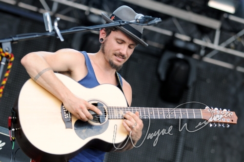 Live concert photography of John Butler Trio at Bonnaroo in Manchester, TN by Wayne Dennon © Dennon Photography