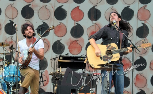 Live concert photography of The Avett Brothers at Bonnaroo in Manchester, TN by Wayne Dennon © Dennon Photography