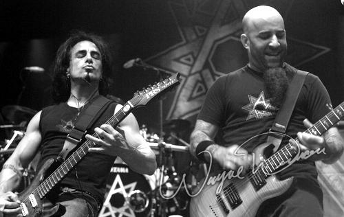 Live concert photography of Anthrax at Riverbend Music Center in Cincinnati, OH by Wayne Dennon © Dennon Photography