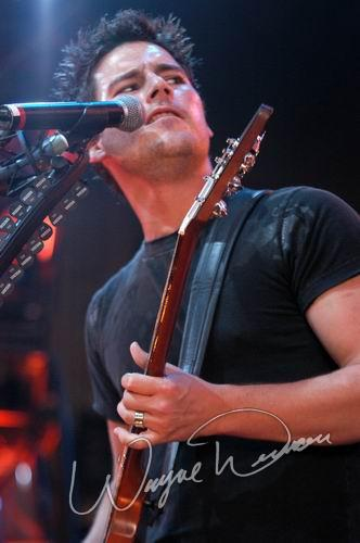 Live concert photography of Nickelback at Riverbend Music Center in Cincinnati, OH by Wayne Dennon © Dennon Photography