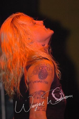 Live concert photography of Otep at Headliners Music Hall in Louisville, KY by Wayne Dennon © Dennon Photography