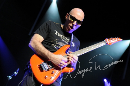 Live concert photography of Joe Satriani at Aronoff Center in Cincinnati, OH by Wayne Dennon © Dennon Photography