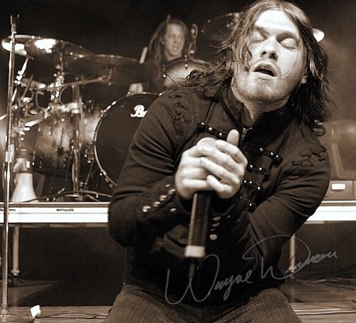 Live concert photography of Shinedown at Riverbend Music Center in Cincinnati, OH by Wayne Dennon © Dennon Photography