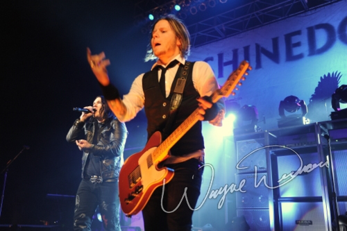 Live concert photography of Shinedown at Bank of Kentucky Center in Highland Heights, KY by Wayne Dennon © Dennon Photography