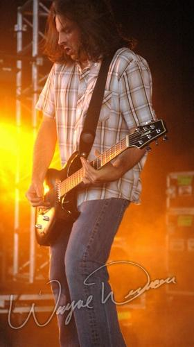 Live concert photography of Staind at Riverbend Music Center in Cincinnati, OH by Wayne Dennon © Dennon Photography