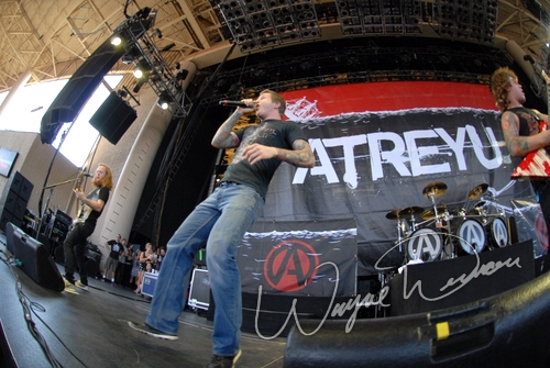 Live concert photography of Atreyu at Verizon Wireless Music Center in Noblesville, IN by Wayne Dennon © Dennon Photography