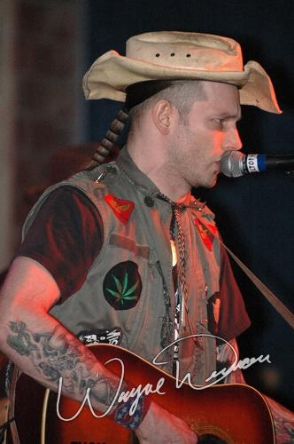 Live concert photography of Hank Williams III at 20th Century Theater in Cincinnati, OH by Wayne Dennon © Dennon Photography
