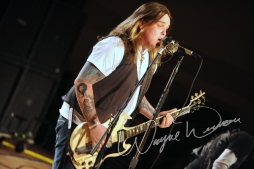 Live concert photography of Black Stone Cherry at Cave City Convention Center in Cave City, KY by Wayne Dennon © Dennon Photography