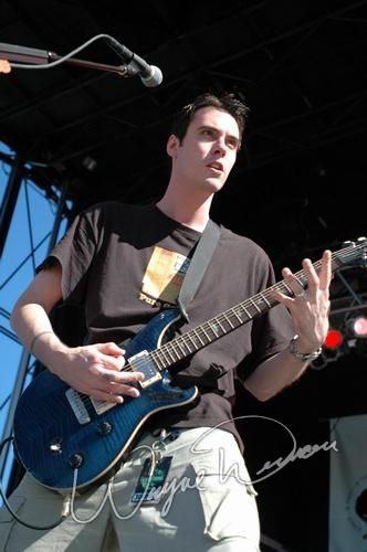 Live concert photography of Breaking Benjamin at X-Fest in Dayton, OH by Wayne Dennon © Dennon Photography