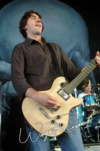 Live concert photography of Breaking Benjamin at Riverbend Music Center in Cincinnati, OH by Wayne Dennon © Dennon Photography