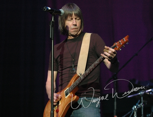 Live concert photography of Pat Travers at NAMM Show 2006 in Anaheim, CA by Wayne Dennon © Dennon Photography