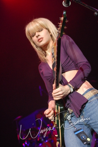 Live concerts photographs of Orianthi  at NAMM Show 2007 in Anaheim, CA 01/19/2007 by Wayne Dennon © Dennon Photography