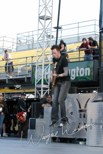 Live concert photography of Hinder at Columbus Crew Stadium in Columbus, OH by Wayne Dennon © Dennon Photography