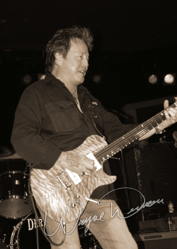 Live concert photography of Rick Derringer at Dallas Market Hall in Dallas, TX by Wayne Dennon © Dennon Photography