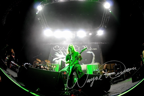 Live concert photography of Children of Bodom at U.S. Bank Arena in Cincinnati, OH by Wayne Dennon © Dennon Photography
