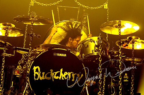 Live concert photography of Buckcherry at Bank of Kentucky Center in Highland Heights, KY by Wayne Dennon © Dennon Photography