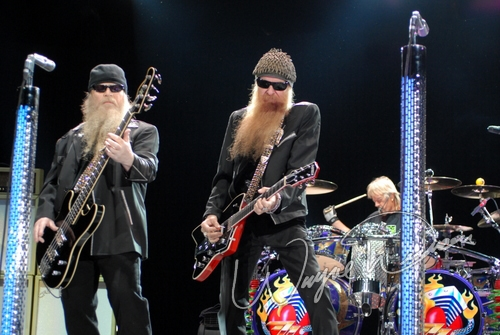 Live concert photography of ZZ Top at Columbus Crew Stadium in Columbus, OH by Wayne Dennon © Dennon Photography