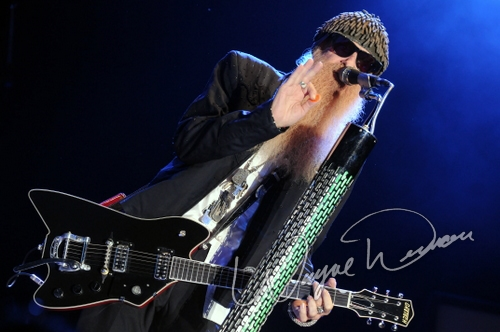 Live concerts photographs of ZZ Top  at Catch the Fever festival grounds in Pryor, OK 05/29/2010 by Wayne Dennon © Dennon Photography