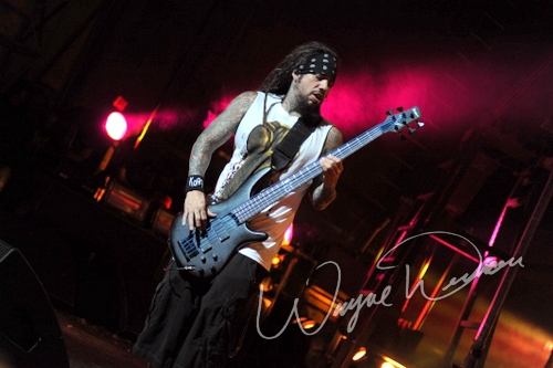 Live concert photography of Korn at Riverbend Music Center in Cincinnati, OH by Wayne Dennon © Dennon Photography