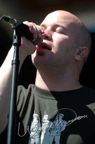 Live concert photography of Finger Eleven at X-Fest in Dayton, OH by Wayne Dennon © Dennon Photography