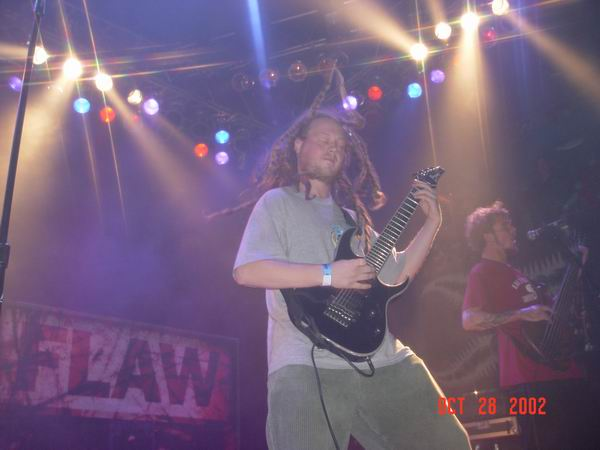 Live concerts photographs of Flaw  at Unknown Venue in Somewhere, US 10/28/2002 by Wayne Dennon © Dennon Photography